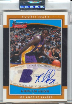 2002-03 Bowman Signature Edition Parallel #SEKR Kareem Rush JSY AU
