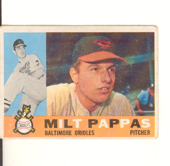 1960 Topps #12 Milt Pappas