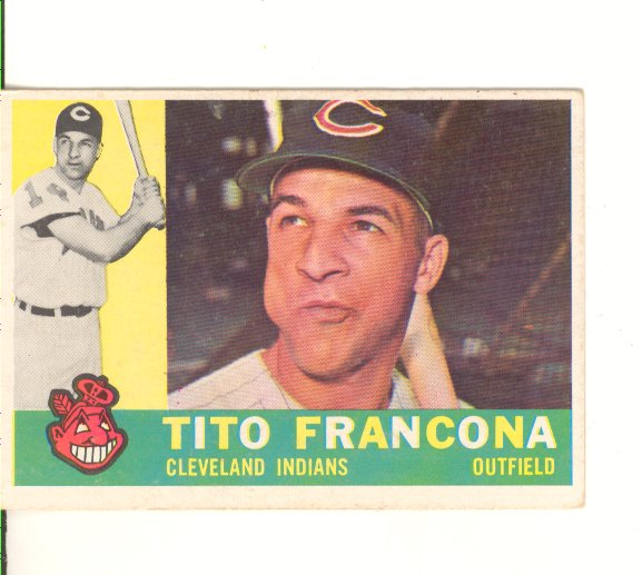 1960 Topps #30 Tito Francona front image