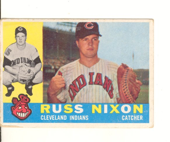1960 Topps #36 Russ Nixon front image
