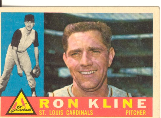 1960 Topps #197 Ron Kline