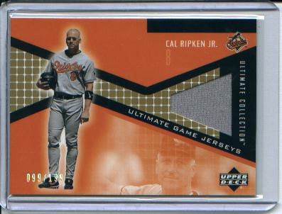2002 Ultimate Collection Game Jersey Tier 3 #CR Cal Ripken