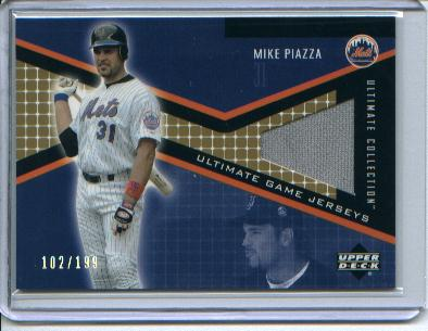 2002 Ultimate Collection Game Jersey Tier 3 #MP Mike Piazza