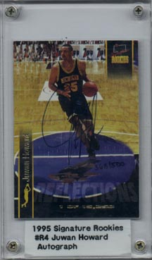1995 Signature Rookies Basketball Juwan Howard Authentic Autograph Rare!! Mint NICE!