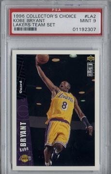 1996/97 Upper Deck Collector's Choice Basketball Kobe Bryant Lakers Team Set Mint PSA 9 NICE!!!