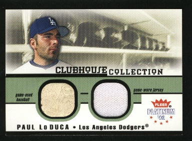 2002 Fleer Platinum Clubhouse Memorabilia Combos #21 Paul LoDuca Ball-Jsy/125