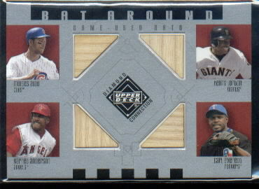 2002 Upper Deck Diamond Connection Bat Around Quads #ALAE Alou/Loft/Garret/Everett
