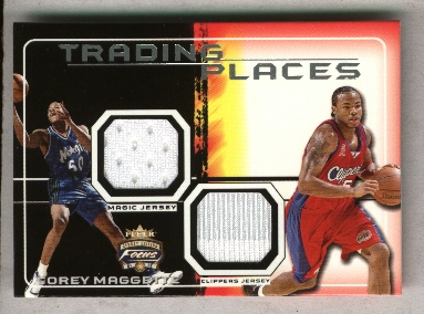 2001-02 Fleer Focus Trading Places Jerseys #6 Corey Maggette