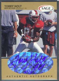 1999 SAGE Autographs Gold #A21 Torry Holt/200