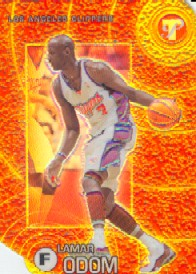 2002-03 Topps Pristine Refractors Gold #47 Lamar Odom