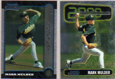 1999 Bowman Chrome #355 Mark Mulder RC