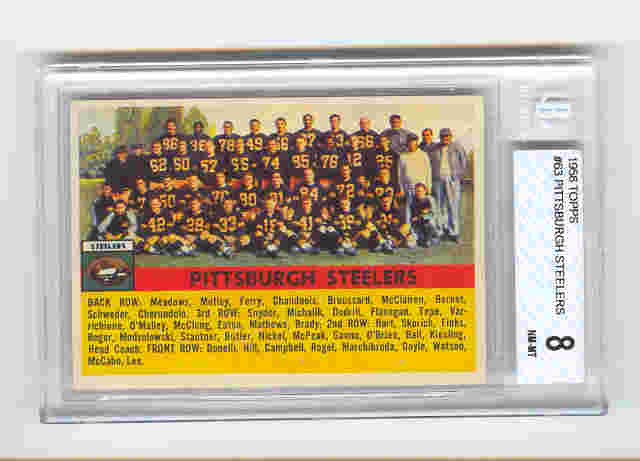 1956 Topps #63 Pittsburgh Steelers front image