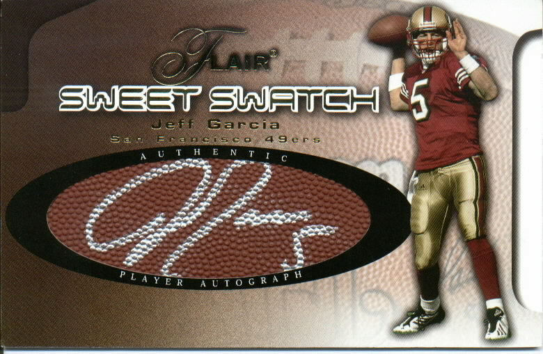 2002 Flair Sweet Swatch Memorabilia Autographs Gold #2 Jeff Garcia