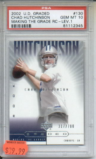2002 UD Graded #130 Chad Hutchinson P RC