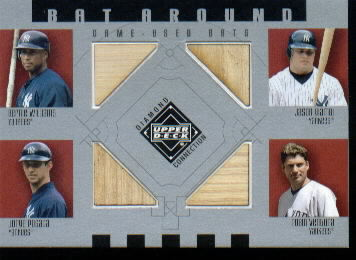 2002 Upper Deck Diamond Connection Bat Around Quads #WGPV Bernie/Giambi/Posa/Vent