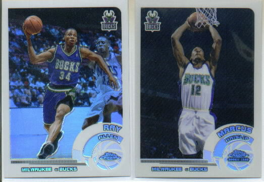 2002-03 Topps Chrome Refractors White Border #92 Ray Allen