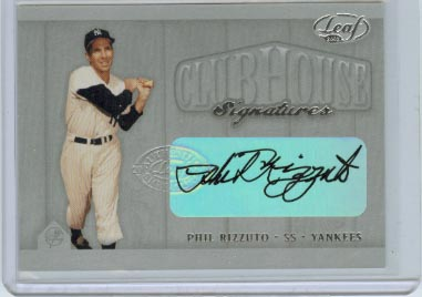 2002 Leaf Clubhouse Signatures Silver #24 Phil Rizzuto/25