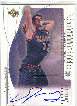 2002-03 Ultimate Collection #77 Nikoloz Tskitishvili AU RC