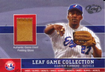 2003 Leaf Game Collection #13 Vladimir Guerrero Fld Glv