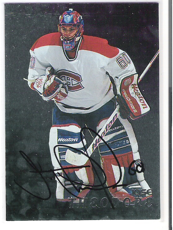 1998-99 Be A Player Autographs #219 Jose Theodore