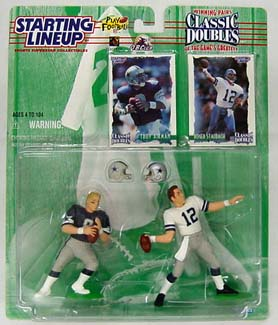 1997 Starting Lineup (SLU) Classic Doubles Troy Aikman, Roger Staubach Dallas Cowboys