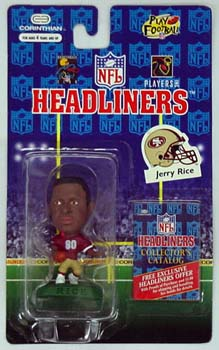 HeadLiners (HL) Jerry Rice Red Jersey San Francisco 49ers