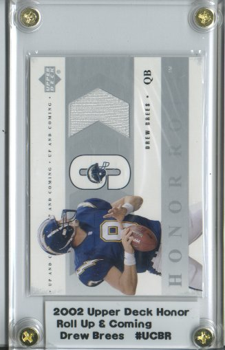 2002 Upper Deck Honor Roll Up and Coming Jerseys #UCBR Drew Brees