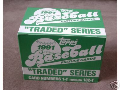 1991 TOPPS TRADED BASEBALL SET