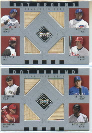 2002 Upper Deck Diamond Connection Bat Around Quads #KRLJ Kendall/I-Rod/Lieb/C.John