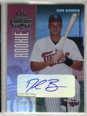 2003 Donruss Champions Autographs #157 Rob Bowen/375
