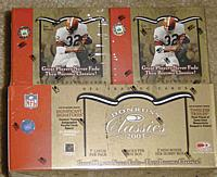 2003 Donruss Classics factory-sealed HOBBY football box (TWO 9-pack mini-boxes. Make sure you're getting what you pay for)