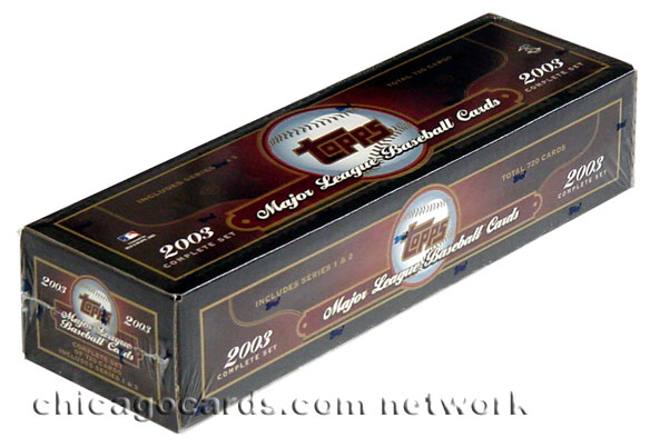 2003 Topps Baseball Seres 1 & 2 Complete Set (720 Cards), Hobby Version, Factory Sealed, *** In Stock ***