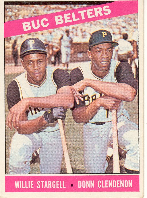 1966 Topps #99 Buc Belters/Willie Stargell/Donn Clendenon