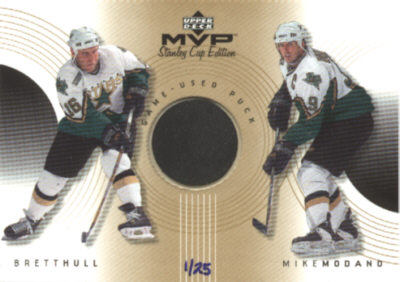 1999-00 Upper Deck MVP SC Edition Great Combinations Gold #GCHM Brett Hull/Mike Modano