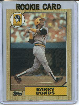 1987 Topps #320 Barry Bonds RC front image