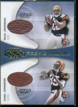2001 Playoff Honors Rookie Tandem Footballs #RT6 Rudi Johnson/Chad Johnson