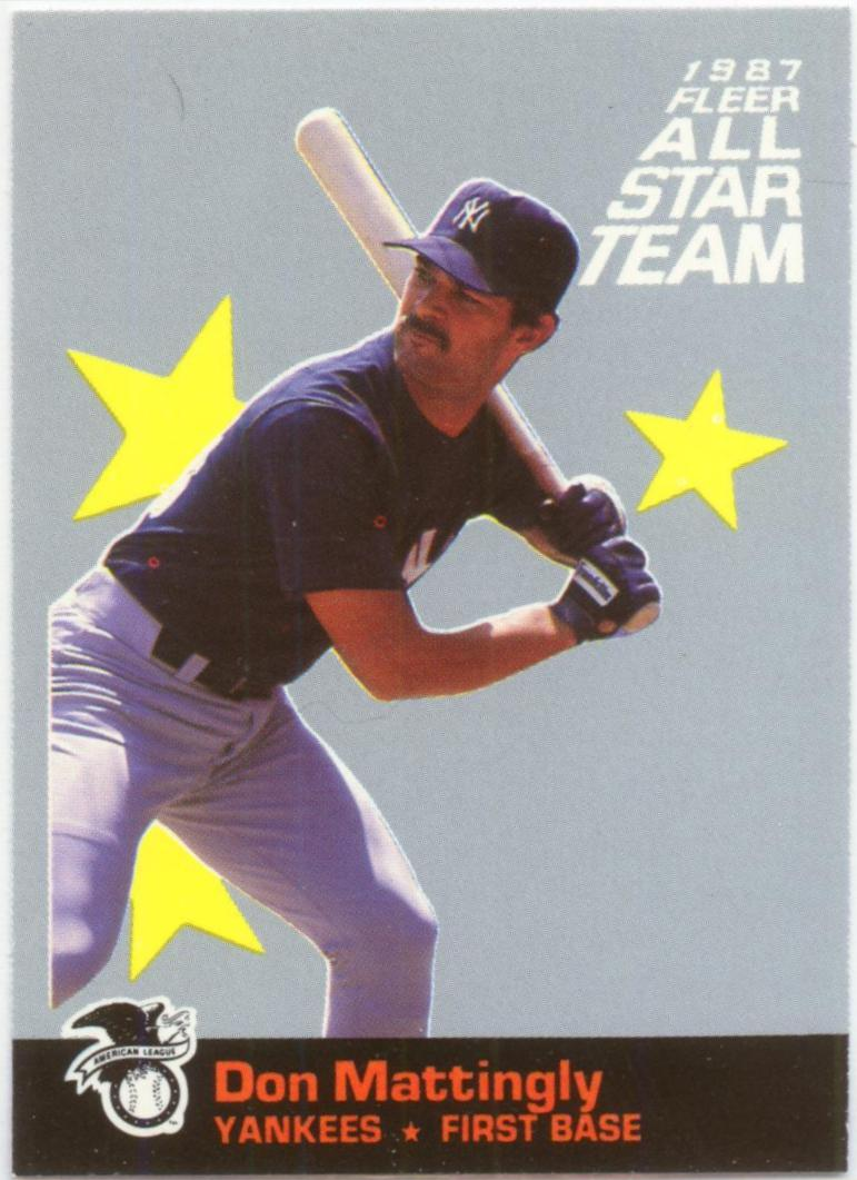 1987 Fleer All-Stars #1 Don Mattingly