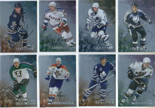 1998-99 Be A Player Autographs #208 Rob Niedermayer