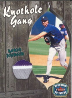 2003 Fleer Splendid Splinters Knothole Gang Patch #RJ Randy Johnson