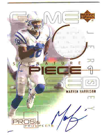 2000 Upper Deck Pros and Prospects Signature Piece 1 #SPMH Marvin Harrison