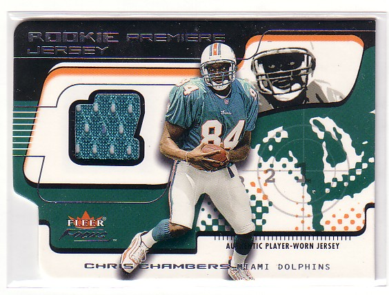 2001 Fleer Focus Rookie Premiere Jersey #RPCC Chris Chambers