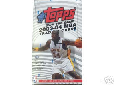 2003-04 (2004) Topps Basketball Factory Sealed Hobby Box (Possible Rookie Cards for Lebron James, Dwyane Wade & Carmelo Anthony)