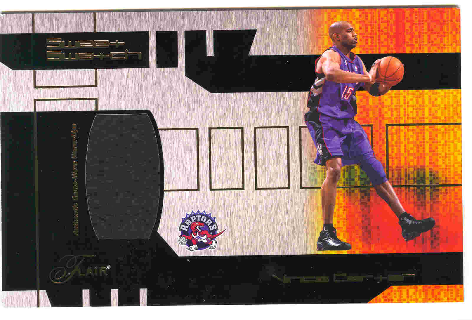 2002-03 Flair Sweet Swatch Game Used #SSVC Vince Carter/975