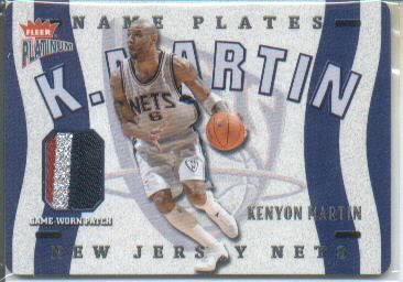 2002-03 Fleer Platinum Nameplates #KM Kenyon Martin/170