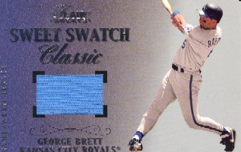2003 Flair Greats Sweet Swatch Classic Jersey #2 George Brett Jsy/384