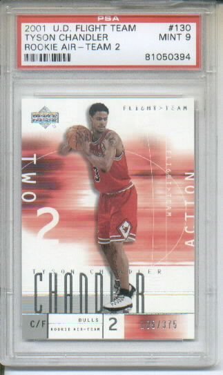 2001-02 Upper Deck Flight Team #130A Tyson Chandler RC