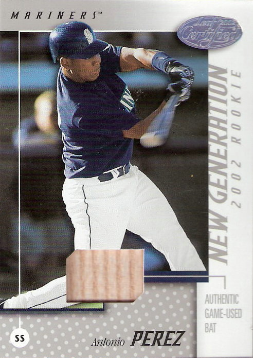 2002 Leaf Certified #196 Antonio Perez NG Bat