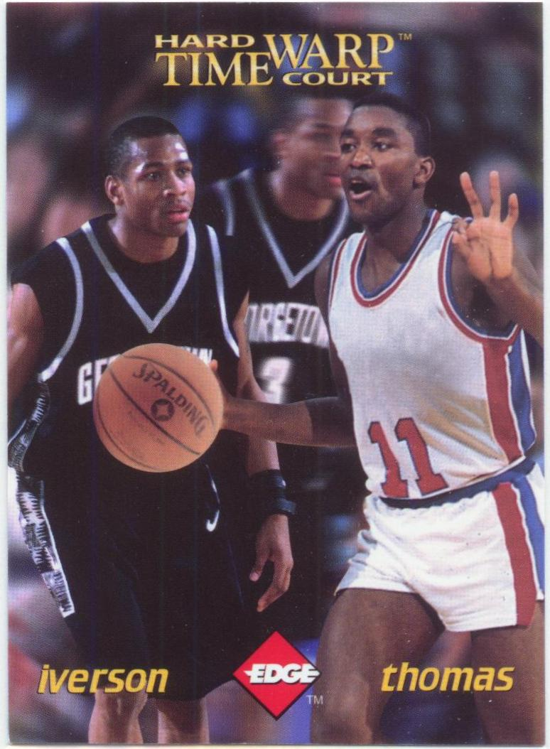 1996 Collector's Edge Time Warp #6 Allen Iverson/Isiah Thomas