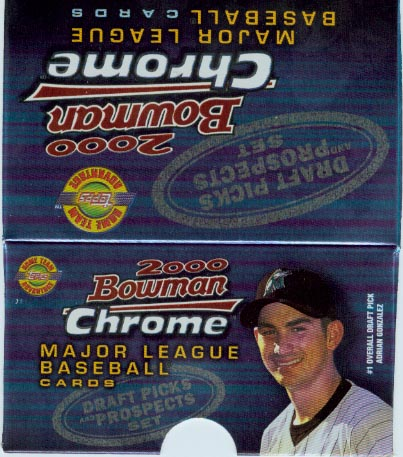 2000 Bowman Chrome Baseball Draft Picks & Prospects Factory Set
