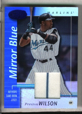 2002 Leaf Certified Mirror Blue #71 Preston Wilson Jsy